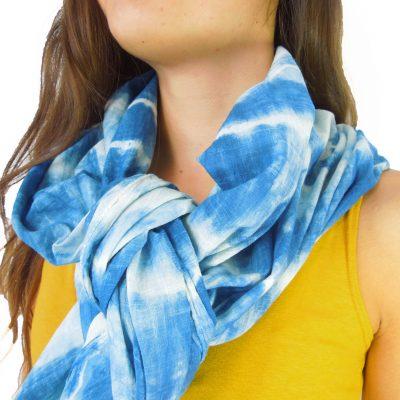 foulard frange chamoiré