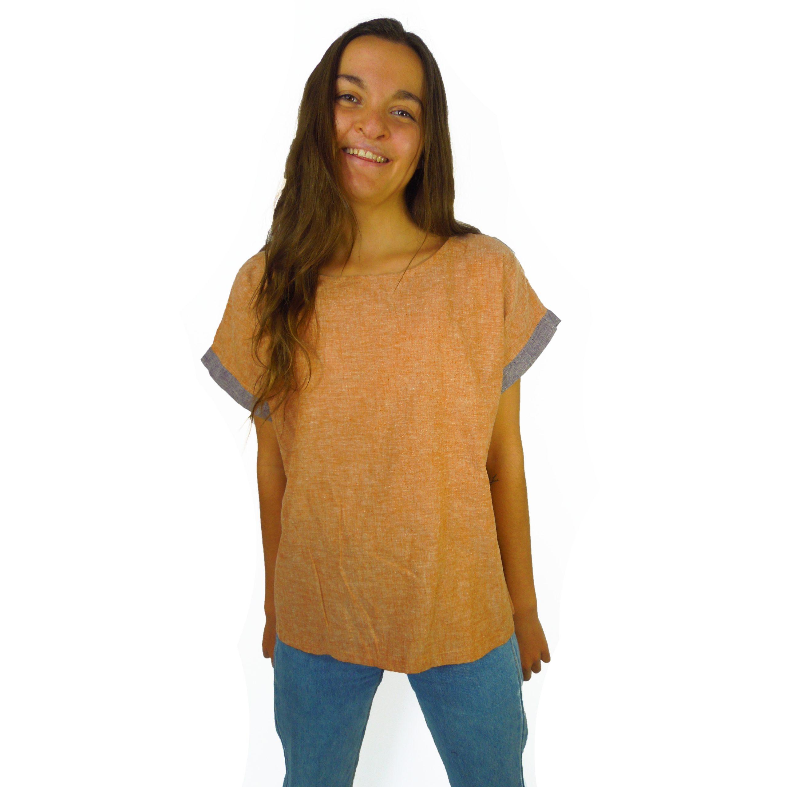 tunique chanvre coton- rust